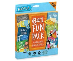 Kids will always have fun during game night or a rainy day with this Hoyle six-in-one fun pack! This amazing set includes classic kids' card games such as Memory, Crazy Eights, Old Maid, Go Fish, Slap Jack and Matching. Fun Card Games, Card Games For Kids, Games For Toddlers, Kids Cards, Family Game Night, Family Games, Hoyle Card Games, Pack And Play, Skills To Learn