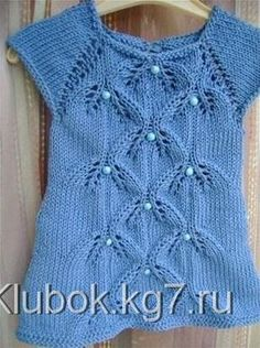 Стильное платье для девочек (Вязание спицами) | Журнал Вдохновение Рукодельницы