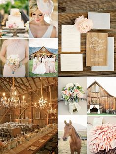 love the girliness of this wedding and the blush and peach accents!