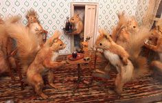 Walter Potter's anthropomorphic taxidermy.
