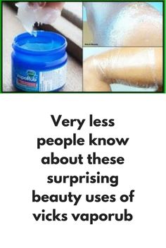 Very less people know about these surprising beauty uses of vicks vaporub Surprising Uses For Vicks Vapor Rub. 4 Beauty Hacks With Vicks Vapor Rub. Vicks Vapor Rub is a perfect addition for your beauty needs. Here are 4 very effective ways you can. Uses For Vapor Rub, Vics Vapor Rub Uses, Vapo Rub Uses, Varicose Vein Remedy, Varicose Veins, Vicks Rub, Get Rid Of Spider Veins, Weight Loss Wraps, Uses For Vicks