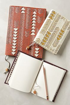 Leather Sagitta Journal - anthropologie.com #anthrofave