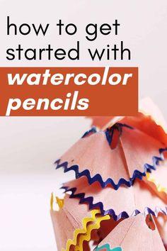 Pencil Colour Painting, Watercolor Pencil Art, Watercolor Tips, Watercolour Tutorials, Abstract Watercolor, Watercolor Illustration, Watercolour Painting, Watercolors, Watercolor Pencils Techniques