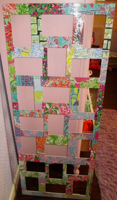 mod podge old Lilly agenda paper on to a frame #love #diy