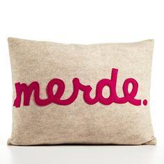 MERDE  recycled felt applique pillow 14x18  door alexandraferguson, $99.00