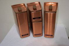 Copper Canister Set of 4 by LuRuUniques on Etsy, $38.00
