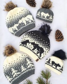 The Kodiak Kisses pattern has now been updated on Ravelry AND added onto etsy It also now comes with a bonus chart of trees all around. Fair Isle Knitting Patterns, Knitting Charts, Knit Patterns, Baby Knitting, Free Knitting, Knit Or Crochet, Crochet Hats, Loom Knit, Mittens Pattern