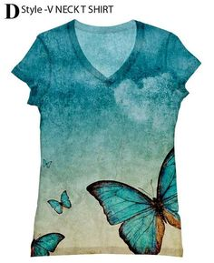 Hey, I found this really awesome Etsy listing at https://www.etsy.com/listing/159316196/woman-butterfly-print-top228-xxs-plus