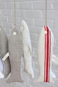 ❂ Coussin Sardine ‹ Textile ‹ Boutique ‹ Atelier du Presbytère