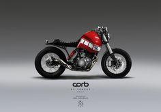 Corb Motorcycle, design by JMKL Handmade. Xt 600 Scrambler, Yamaha Xt 600, Honda Scrambler, Scrambler Custom, Yamaha Bikes, Yamaha Cafe Racer, Cg 125 Cafe Racer, Style Cafe Racer, Bike Style