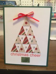 Handmade Christmas card Let it Snow with ice by Kr3ativecardz