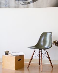 Superbe Modernica Case Study Fiberglass Shell Chair With Dowel Base