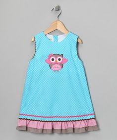 Take a look at this Turquoise Polka Dot Owl Jumper - Infant, Toddler & Girls by Candyland on #zulily today!
