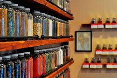 Herbs stored in such a way that they are easy to see and are beautiful to look at.
