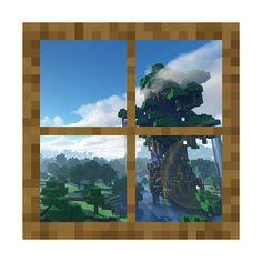 Minecraft Window  - The Great Oak Vinyl Wall Decal