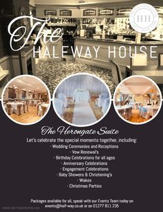 Speak to us today to arrange that special event you've been thinking about. We have our exquisite Herongate Suite suitable for all occasions, complete with private entrance, bar, seating area and toilets.   Call us on 01277 811 235 or email us on events@half-way.co.uk Engagement Celebration, Birthday Celebration, Wedding Ceremony, Reception, Wedding Venues Essex, Bar Seating, Lets Celebrate, Toilets, Vows