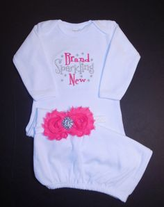 Newborn baby girl coming home outfit Newborn by LittleQTCouture