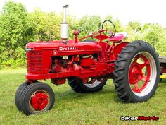 red international harvester farmall tractor