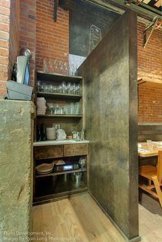 Mill work and cabinets for Rolf & Daughters restaurant in Nashville, TN; servers' station