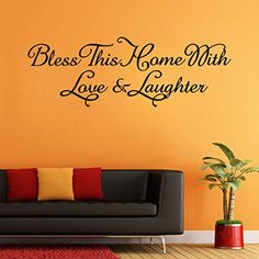 $1.68  - Wall StickersGOODCULLER New Bless This Home Removable Art Vinyl Mural Home Room Decor Wall Stickers Home Decor Wall Sticker >>> Continue to the product at the image link. (This is an affiliate link) #WallStickersMurals