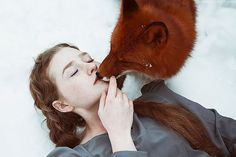 Fairytale Portraits Of Redheads With A Red Fox By Uzbek Photographer | Bored Panda