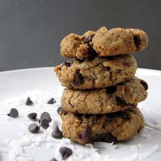 Coconut butter cookies - I made these. They are good, super soft. Not crispy around the edges like typical chocolate chip cookies. I used garbanzo bean flour instead of the floor called for because that is what I had. Also added 1/2 teasp. guar gum.