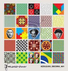 Azulejos Adesivos Decora nº 001 www.mejoganaparede.com.br