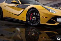 SR Auto Group decked a Ferrari F12 Berlinetta with Novitec Rosso NF3 wheels