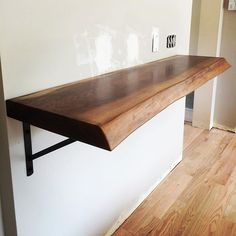 High Quality Just Installed This #salvaged Walnut Live Edge Breakfast Bar #reclaimedwood  #pittsburgh   More