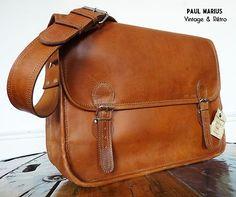 SACOCHE CUIR VINTAGE Besace Cartable Rétro Sac marque PAUL MARIUS Taille L  Qui a trouvé son nouveau sac pour le travail?