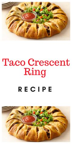 Add taco seasoning mix and cup water. Pampered Chef Recipes, Meat Recipes, Mexican Food Recipes, Cooking Recipes, Pampered Chef Taco Ring, Yummy Recipes, Dinner Rolls Recipe, Easy Dinner Recipes, Appetizer Recipes