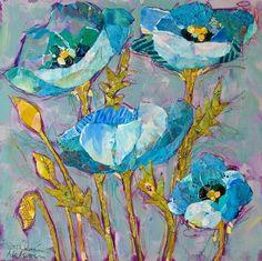 Blue Flower Collage.