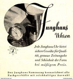 Original-Werbung/ Anzeige 1935 - JUNGHANS UHREN - Ca. 90 X 100 Mm - Werbung