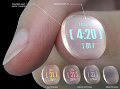 You can't have time on the tip of your fingers, but with gadgets like Timex nail watch, you can surely have your watch on your fingertip. Cool Technology, Wearable Technology, Technology Gadgets, Wearable Device, Latest Technology, Technology Gifts, Computer Technology, Gadgets And Gizmos, Tech Gadgets