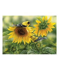 Sunflowers & Gold Finches 1,000-Piece Puzzle