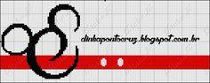 Dinha Ponto Cruz: Molduras MIckey e Minnie ponto cruz