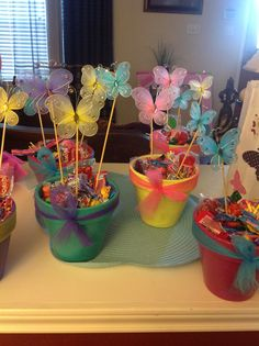 Butterfly flower pot centerpieces!!!!