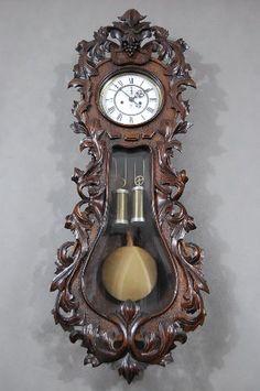 Gustav Becker Antique Wall Clocks, Old Clocks, Wooden Clock, Classic Clocks, Pendulum Clock, Wall Clock Online, Antique Watches, Old Antiques, Grandfather Clocks