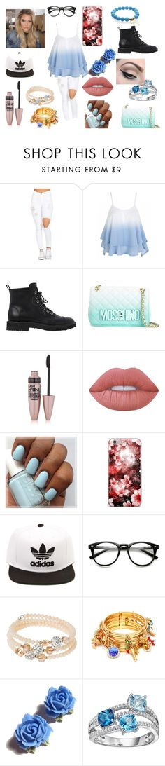 """""""Untitled #468"""" by sparkle-4 on Polyvore featuring Giuseppe Zanotti, Moschino, Maybelline, Lime Crime, Mehron, adidas, sweet deluxe, Dolce&Gabbana, Tarina Tarantino and men's fashion"""