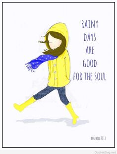 Rainy days quote cartoon