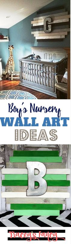 Wonderful Wall Art Ideas for a Boys Nursery | Tracey\'s Fancy | Painted Nursery Decor for boys