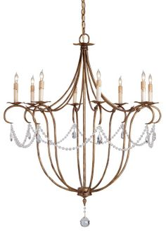 Currey & Company Crystal Lights Chandelier.  GOOD RESOURCE FOR LIGHTING