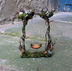 Fairy garden swing #2. Diane Heyne's amazing artwork.