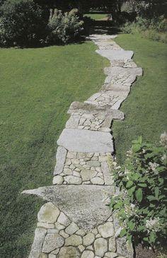Marvelous Front Yard and Garden Walkway Landscaping Amazing Gardens, Beautiful Gardens, Landscape Design, Garden Design, Path Design, Stone Walkway, Stone Paths, Rock Pathway, Paver Walkway