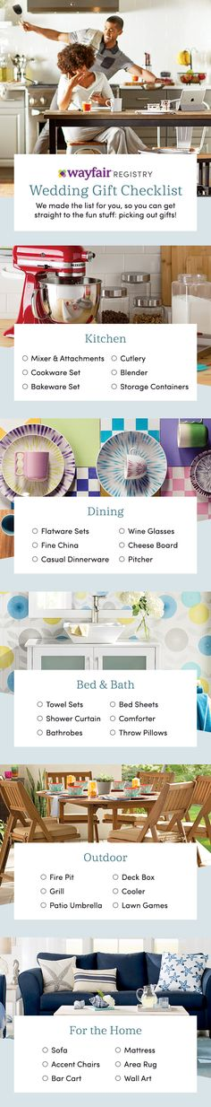 Create your dream registry today using our personalized wedding checklist! Your registry, your way. Pick out home items from all your favorite brands like KitchenAid and Kate Spade, and create a registry that's as unique as your love. Shop for every room and every style. Each gift will be a reminder of your special day for years to come. Style starts here.