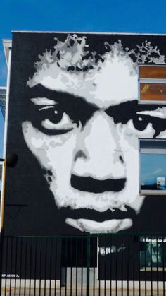 Jimi Hendrix Street Art by Jef Aerosol, located in Belgium