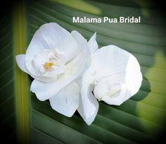 IVORY ORCHID WEDDING Hair Clip, Bridal Hair Flower, Hair Accessory, Real Touch, Headpiece, Beach Wedding, Hawaiian Tropical silk flower comb by MalamaPuaBridal on Etsy https://www.etsy.com/listing/497650286/ivory-orchid-wedding-hair-clip-bridal