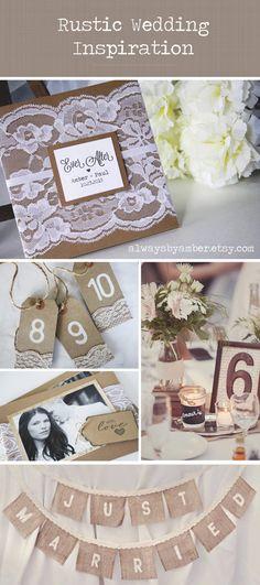 Rustic Wedding Invitations Custom Classic Wedding by alwaysbyamber