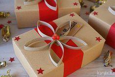 más y más manualidades: Hermosas ideas para forrar tus regalos navideños con papel kraft