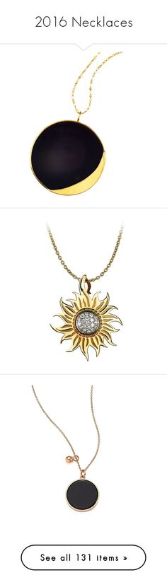 """2016 Necklaces"" by winscotthk ❤ liked on Polyvore featuring jewelry, necklaces, jewelry necklaces, yellow gold, disc pendant necklace, onyx necklace, 14k jewelry, pendant jewelry, 14 karat gold pendants and pendants"